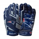 Wilson NFL Stretch Fit Youth Receivers Gloves - New England Patriots