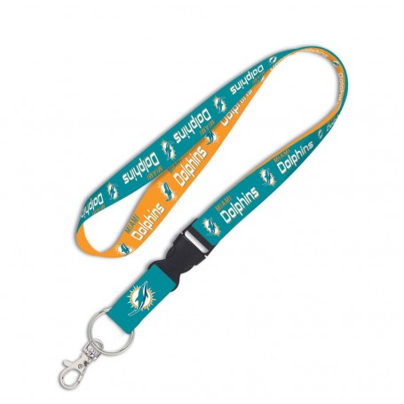 "Miami Dolphins 1"" Lanyard w/ Detachable Buckle"