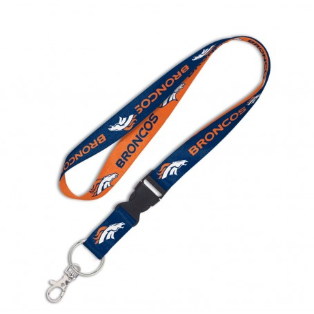 "Denver Broncos 1"" Lanyard w/ Detachable Buckle"