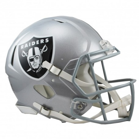 Oakland Raiders Full-Size Riddell Revolution Speed-Authentic Replica-Helm