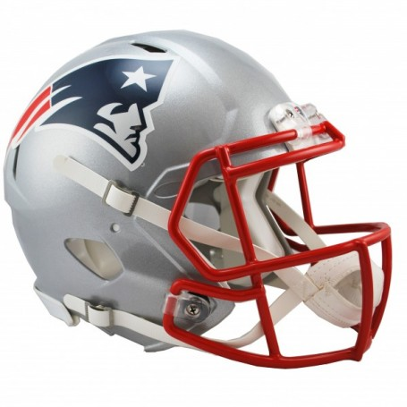 New England Patriots Full-Size Riddell Revolution Speed-Authentic Replica-Helm