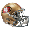 San Francisco 49ers Full Size Riddell Speed Replica Helmet