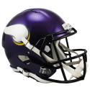 Vikingos De Minnesota De Tamaño Completo Riddell Speed Réplica De Casco