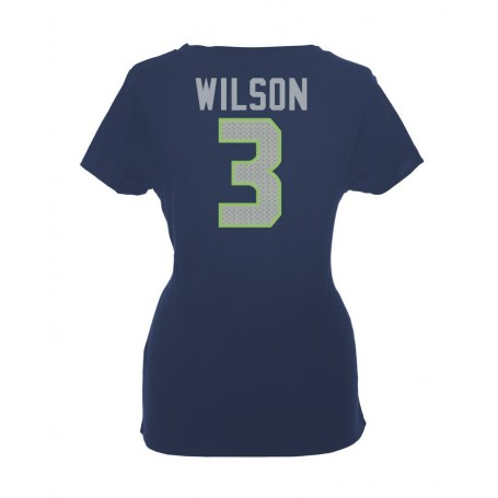 Seattle Seahawks Name And Number Ladies T-Shirt