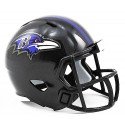Cuervos de Baltimore Riddell de la NFL Speed Pocket Pro Casco