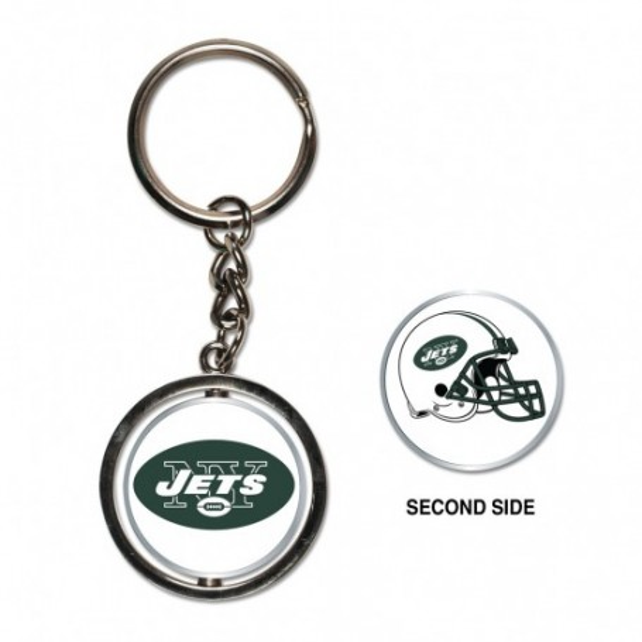 New York Jets Spinner Key Ring