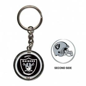 Oakland Raiders Spinner Key Ring