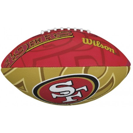 San Francisco 49ers Wilson NFL Team Logo Junior Football