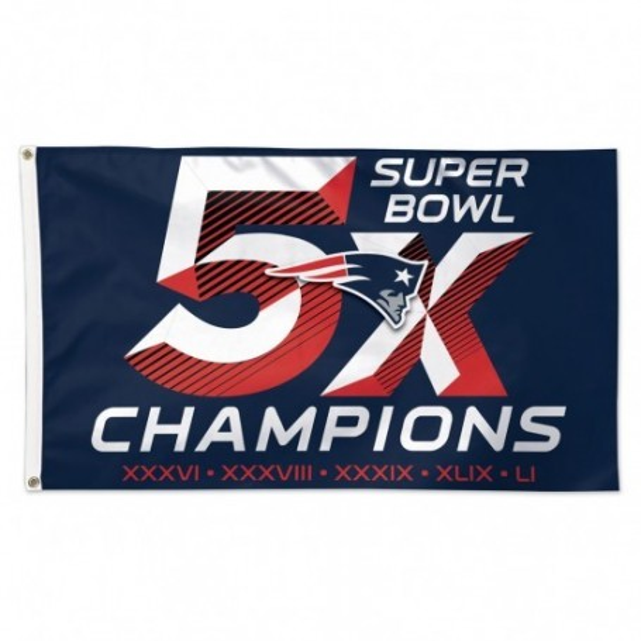 Super Bowl 5 x Drapeau de Champions