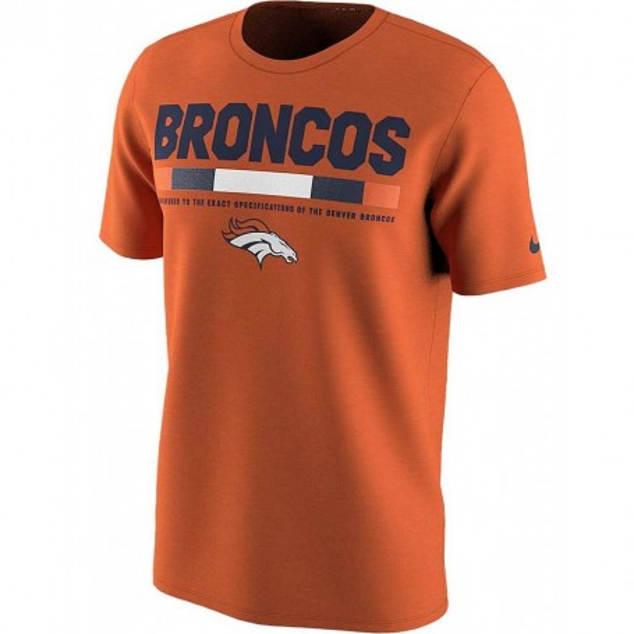 Los Denver Broncos, Nike De La Línea Lateral Leyenda Personal De T-Shirt - Naranja