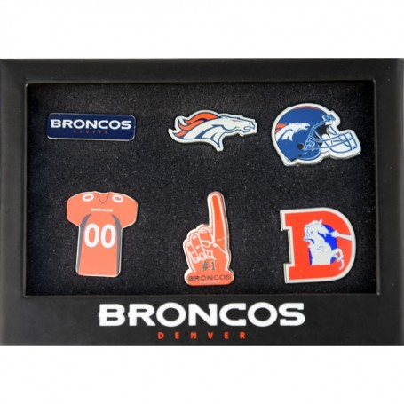 Denver Broncos NFL 6pcs Pin Distintivo Set