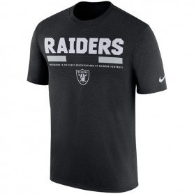 Oakland Raiders Nike Sideline Legend Staff T-Shirt - Black cac1eabb0