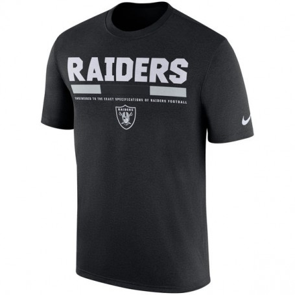 Los Oakland Raiders De Nike De La Línea Lateral Leyenda Personal De T-Shirt - Negro