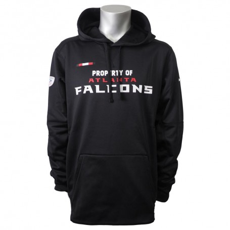 online retailer 67388 f16aa Atlanta Falcons Nike Sideline Property Of Performance Pullover Hoodie -  Black