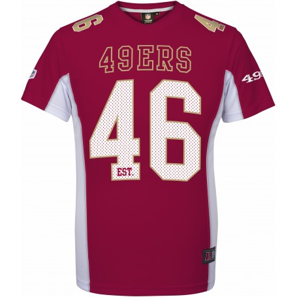 49ers de San Francisco Mesh Poly T-Shirt
