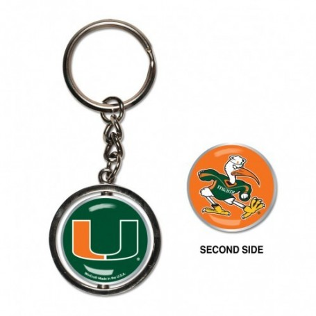 Miami Hurricanes Spinner Porte-Clés
