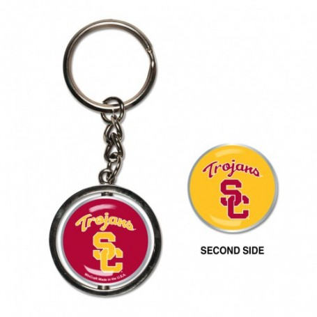 USC Trojans Spinner Key Ring