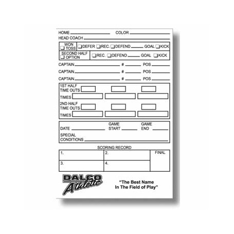 Officials Game Info Cards 25pk