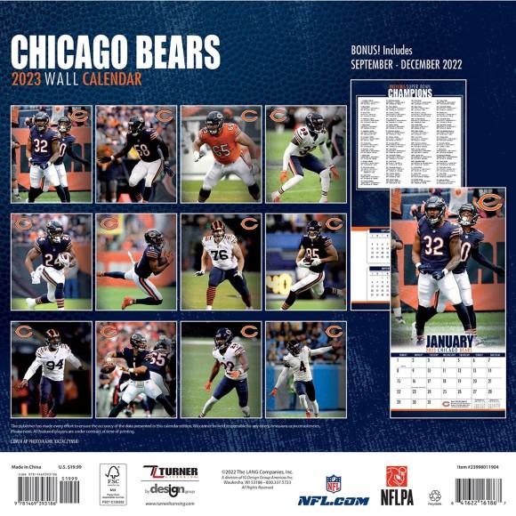 Placa de matrícula de los Chicago Bears