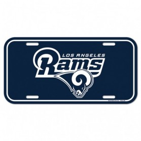 Los Angeles Rams License Plate