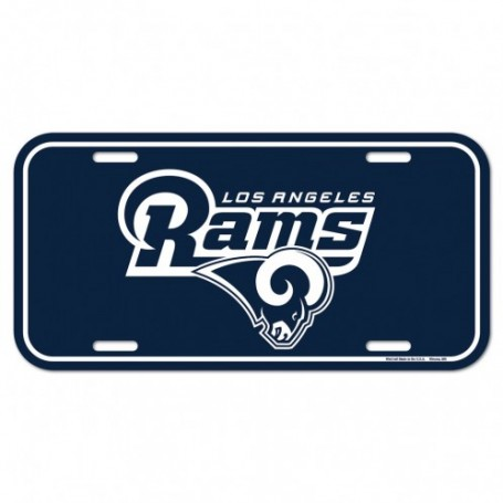 Los Angeles Rams License Plate