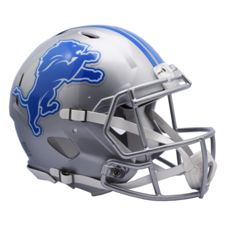 Detroit Lions Full-Size Riddell Revolution Speed Authentic Helmet