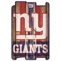 New York Giants Wood Fence Sign