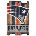 New England Patriots Wood Fence Sign