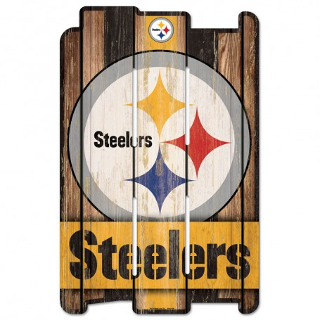 Pittsburgh Steelers Wood Fence Sign