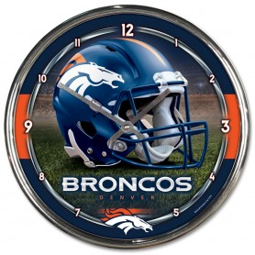 cheap for discount c898b ca9a9 Denver Broncos Chrome Clock
