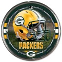 Green Bay Packers Chrome Clock