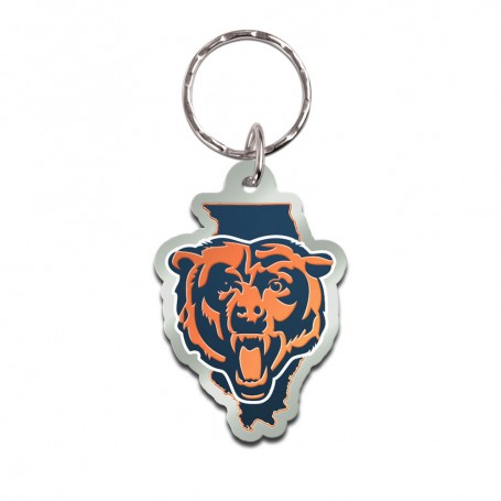 Chicago Bears State Keychain