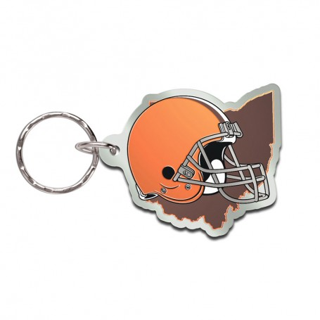 Cleveland Browns State Keychain