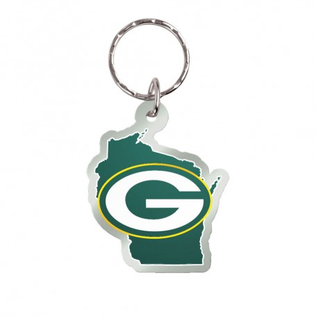 Green Bay Packers State Keychain