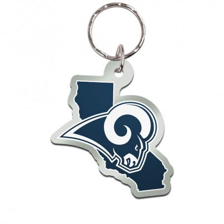 Los Angeles Rams State Keychain