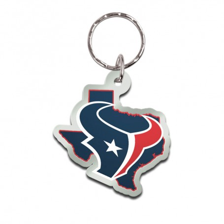 Houston Texans State Keychain