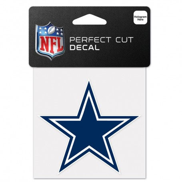 "Dallas Cowboys 4"" x 4"" Logo Decal"