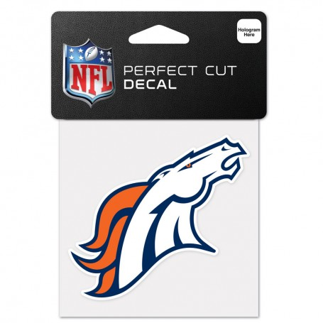 "Denver Broncos 4"" x 4"" Logo Decal"