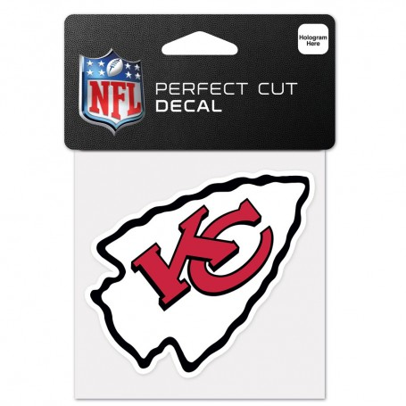 "Kansas City Chiefs 4"" x 4"" Logo Decal"