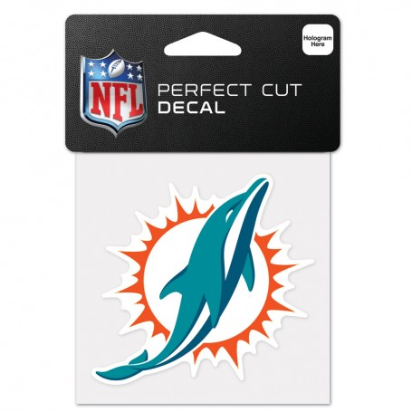 "Miami Dolphins 4"" x 4"" Logo Decal"