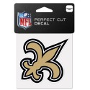 "New Orleans Saints 4"" x 4"" Logo-Aufkleber"