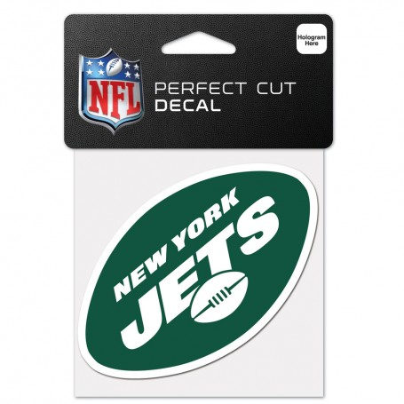 "New York Jets 4"" x 4"" Logo-Aufkleber"