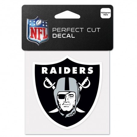"Oakland Raiders 4"" x 4"" Logo Decal"