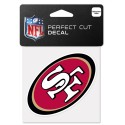 "San Francisco 49ers 4"" x 4"" Logo Decal"