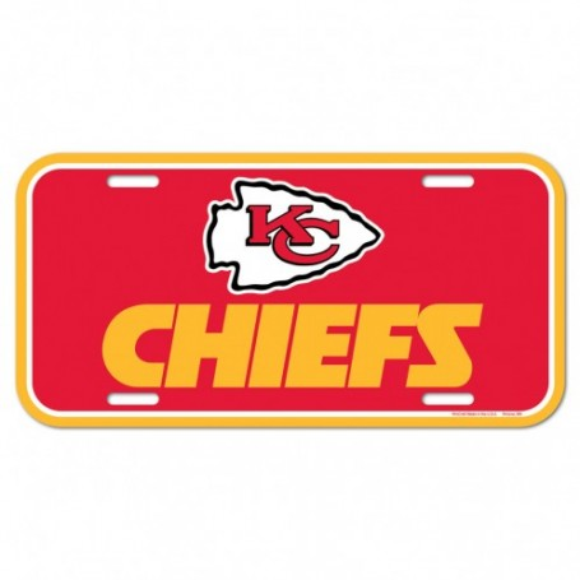 Kansas City Chiefs Nummernschild