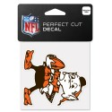 "Cleveland Browns 4"" x 4"" Retro Logo Decal"