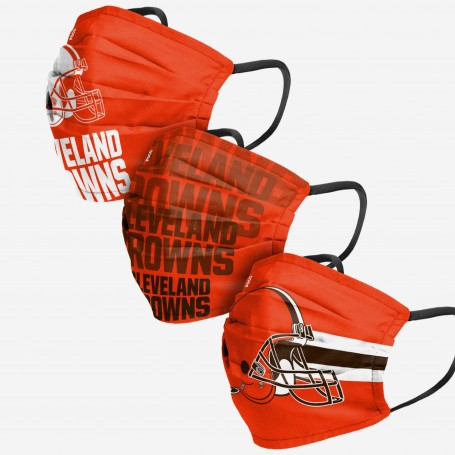 Cleveland Browns Face Cover 3pk