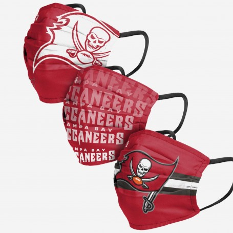 Tampa Bay Buccaneers Face Cover 3pk