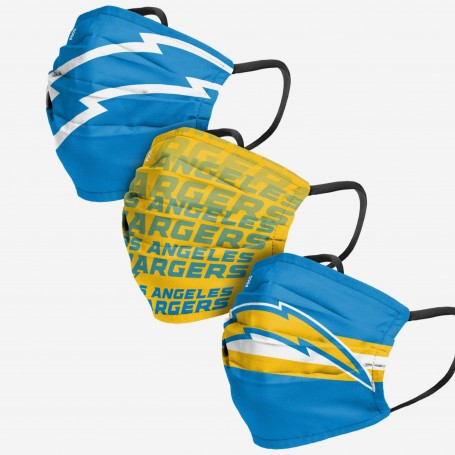 Los Angeles Chargers Face Cover 3pk