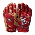 Guantes Wilson NFL Stretch Fit Youth Receivers - San Francisco 49ers